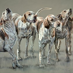 Beaufort Hunt by Vicky Palmer - Original Painting on Stretched Canvas sized 39x39 inches. Available from Whitewall Galleries